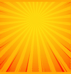 yellow pop art comic book style background with vector image