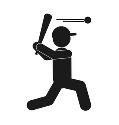 baseball pictogram icon vector image