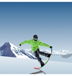 Snowboarding theme snowboarder vector
