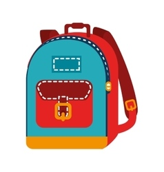 Backpack bag school isolated vector