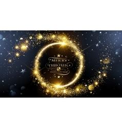 Christmas frame with stars vector image