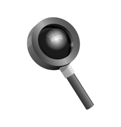 Magnifying glass with black base vector