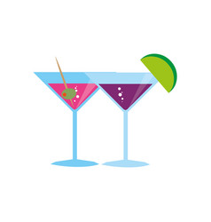 color background with cocktail glass vector image