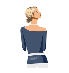 woman rear standing vector image
