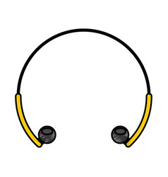 Earphones audio isolated icon vector