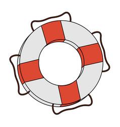 Color image cartoon inflatable rings for rescue vector