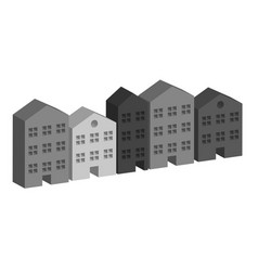 Building housing street in grey vector