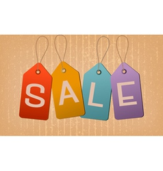 Sale retro tags concept of discount shopping vector