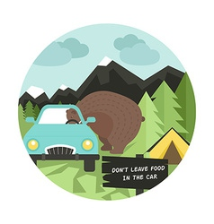 Camping rules vector