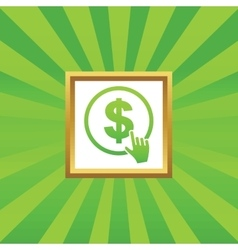 Click on dollar picture icon vector