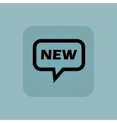Pale blue new message icon vector