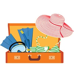 Summer luggage vector