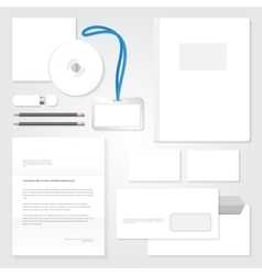 Identity template stationary blank design vector