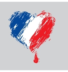 Bleeding heart colors of the french flag vector