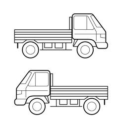 car black lines vector image