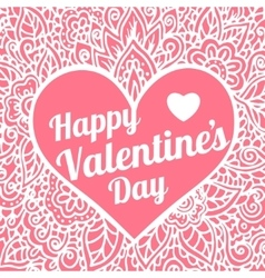 Happy valentines day congratulation card with vector