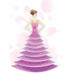 Fancy dress model vector