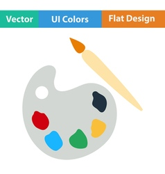 Flat design icon of school palette vector