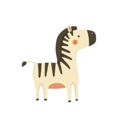 Zebra realistic childish vector