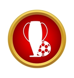 Football cup icon simple style vector