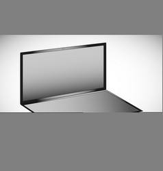 a laptop without a black and white keyboard in vector image vector image