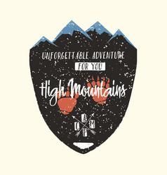 adventure logo vintage hipster apparel emblem vector image vector image