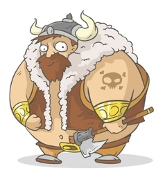 Big viking vector image