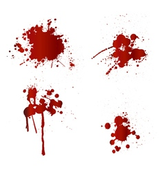 Blood splatters vector
