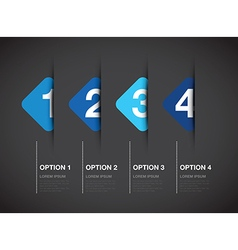 Blue option background square vector