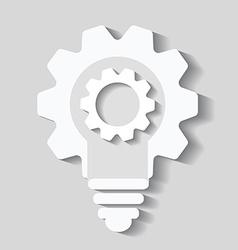 Bulb cogs icon light bulb logo vector image