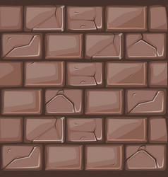 Cartoon brown stone wall texture vector