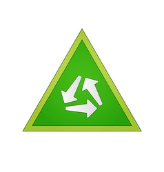 Circle of the arrows in the green triangle vector