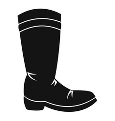 Cowboy boot icon simple style vector