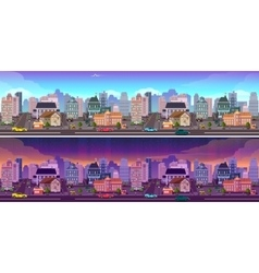 Day and night city Background vector image vector image