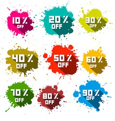 Discount Splashes - Labels Set vector image