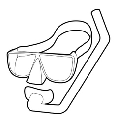 Diving mask icon isometric 3d style vector