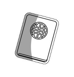 document passport travel vector image