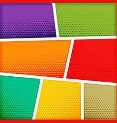 empty comic book template background design vector image vector image