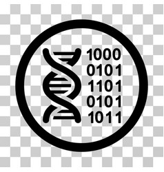 genetical code icon vector image