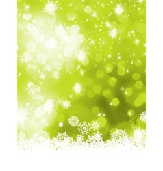 Green abstract christmas with snowflake EPS 8 vector image vector image