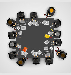 group of business people working in office vector image vector image