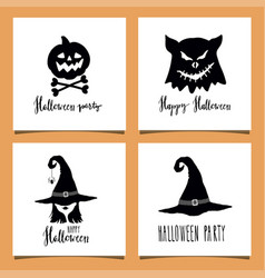 halloween greeting cards vector image vector image