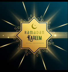 Islamic background for ramadan kareem season vector