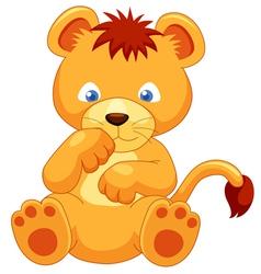 Lion cub vector image vector image