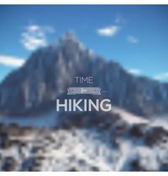 Mountain landscape minimalistic multifunctional vector