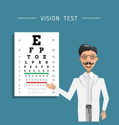 Ophthalmologist eye testing vector