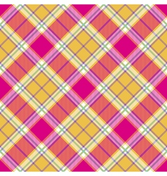 Plaid indian madras diagonal fabric texture vector