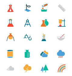 Science colored icons 6 vector
