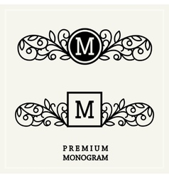 Stylish graceful monogram in victorian style vector