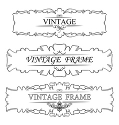 Vintage frame set vector image vector image